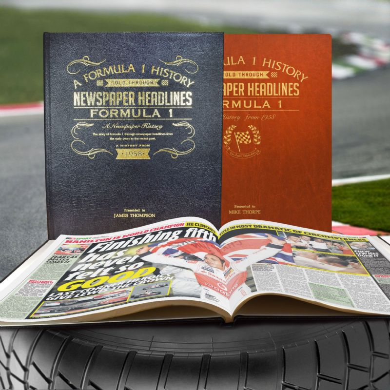 Formula 1 Racing History - Newspaper Book | Sweet and Nostalgic